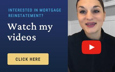 Nadia Kilburn, foreclosure attorney, mortgage reinstatement video promo
